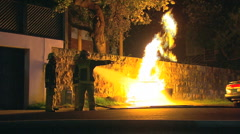 Gas Mains Fire & Explosion PT1 Stock Footage