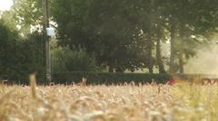 Combine Harvester - stock footage