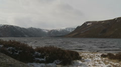 Loch Muick Landscape 8 (zoom out) Stock Footage