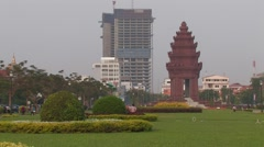 Cambodia: Independence Monument Stock Footage