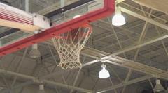 Basketballs swish through hoop Stock Footage
