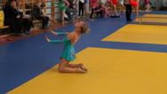 Rhythmic gymnastics training Stock Footage
