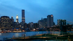 Evening in Brooklyn Heights Stock Footage