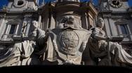 London, Saint Paul's Statues Stock Footage