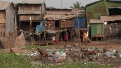 Cambodia: Slum District Stock Footage