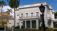 Puerto Rico - Sun shines over Old San Juan Historic Casino Stock Footage