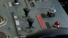 Captains bridge buttons and switches Stock Footage