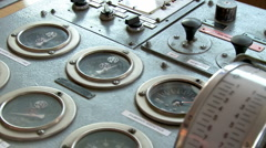 Captain bridge buttons switches and sensors with speed control Stock Footage