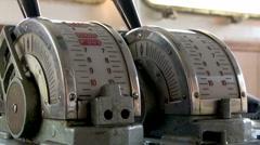 Captains bridge speed wheel  Stock Footage