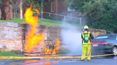 Gas Mains Fire & Explosion PT12 Stock Footage