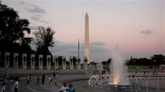 World War II Memorial, Washington DC Stock Footage