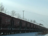 Stock Video Footage of Train in Winter