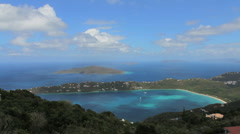 St. Thomas Magens Bay view Stock Footage