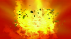 Explosion fire light,galaxy smoke,military bomb particle,ray energy light. Stock Footage