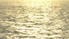 sunset golden ocean  - stock footage