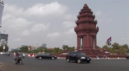 Stock Video of Cambodia: Independence Monument Stock Footage