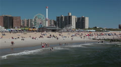 Coney island, brooklyn, new york Stock Footage