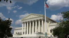 United States Supreme Court Building in Washington, DC - stock footage