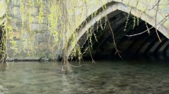 Stone Arch over River Stock Footage
