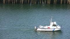 Boston Police Harbor Patrol Stock Footage