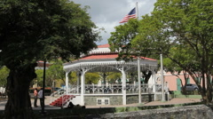 Charlotte Amalie bandstand Stock Footage