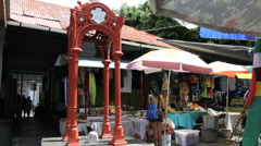 Dominica Roseau market slave stand  Stock Footage