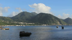 Dominica view of island Stock Footage