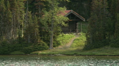 Log Cabin  Stock Footage