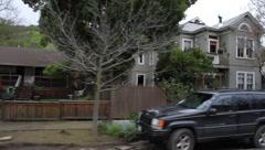 Old Country Neighborhood Stock Footage
