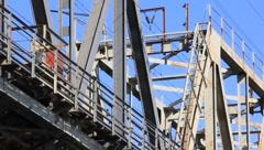 Bridge construction Stock Footage