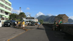 Dominica Roseau town Stock Footage