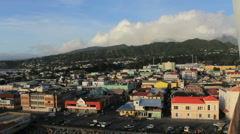 The town of Roseau in Dominica - stock footage