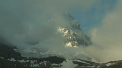 Mount Assiniboine with clouds time lapse Stock Footage