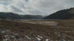 Loch Muick Landscape (Scotland) slow zoom Stock Footage