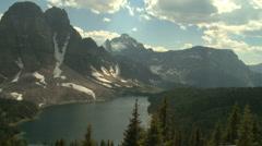 Mount Assiniboine area pan Stock Footage