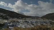Loch Muick Landscape & walkers (Scotland) Stock Footage