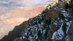 Grand Canyon Winter Vista Stock Footage