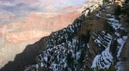 Grand Canyon Winter Vista Stock Footage