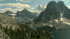 Mount Assiniboine area time lapse Stock Footage