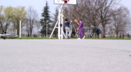 Youth Culture - Teenagers At Playground Stock Footage