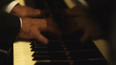 Male playing piano - stock footage