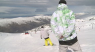 Stock Video Footage of snowpark