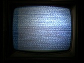 An old TV screen Stock Footage