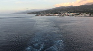 Stock Video Footage of Dominica leaving wake behind