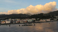 Clouds over the Dominica mountains  Stock Footage