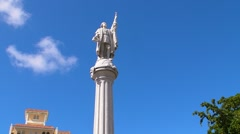 Puerto Rico - Cristopher Columbus Statue Stock Footage