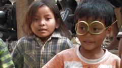 Cambodia: Children Sing Stock Footage