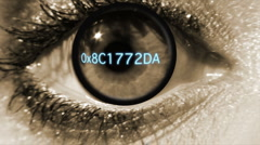 Security eye scan Stock Footage