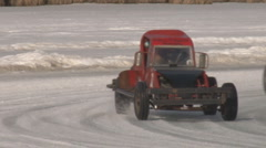 Ice Road Racers Funny Cars #8 of 8 Stock Footage
