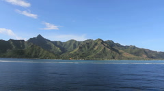 Moorea reef and mountains Stock Footage